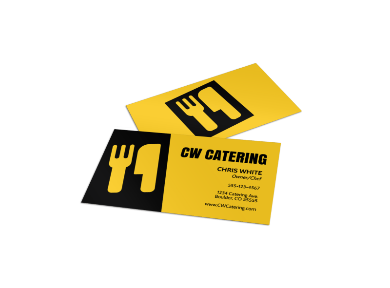 CW Catering Business Card Template Preview 1