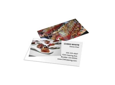 Classy Catering Business Card Template preview