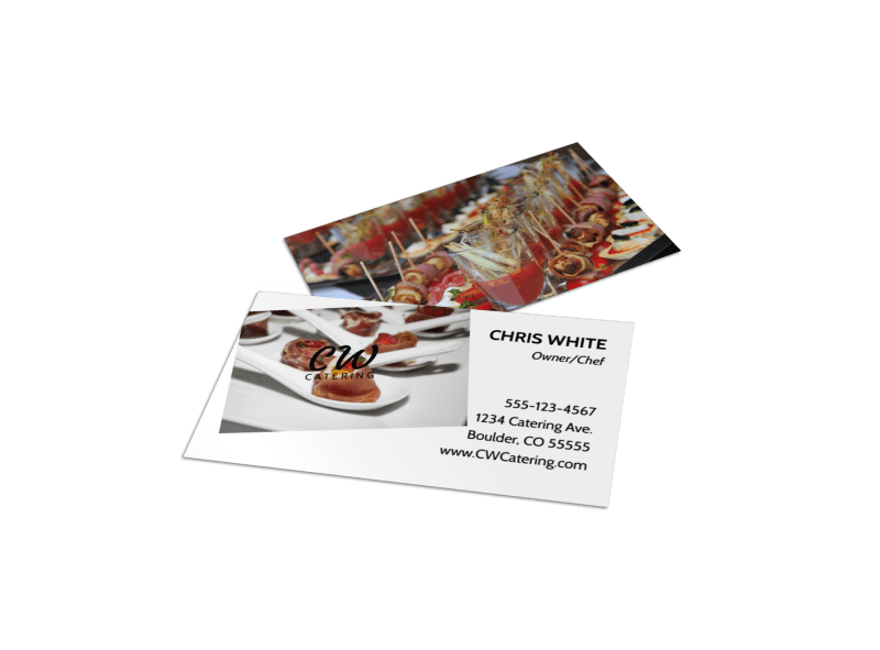 Classy Catering Business Card Template Preview 1