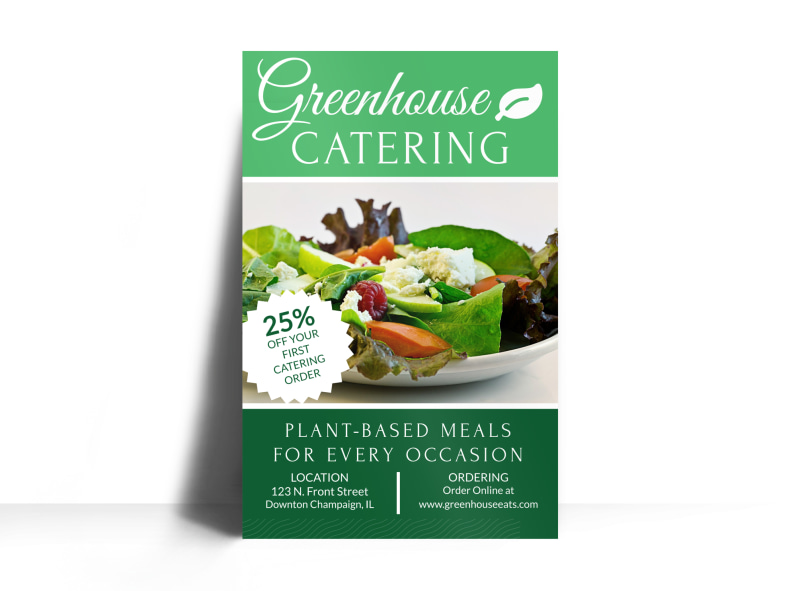 Greenhouse Catering Poster Template