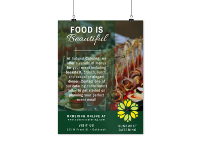 Sunburst Catering Poster Template preview