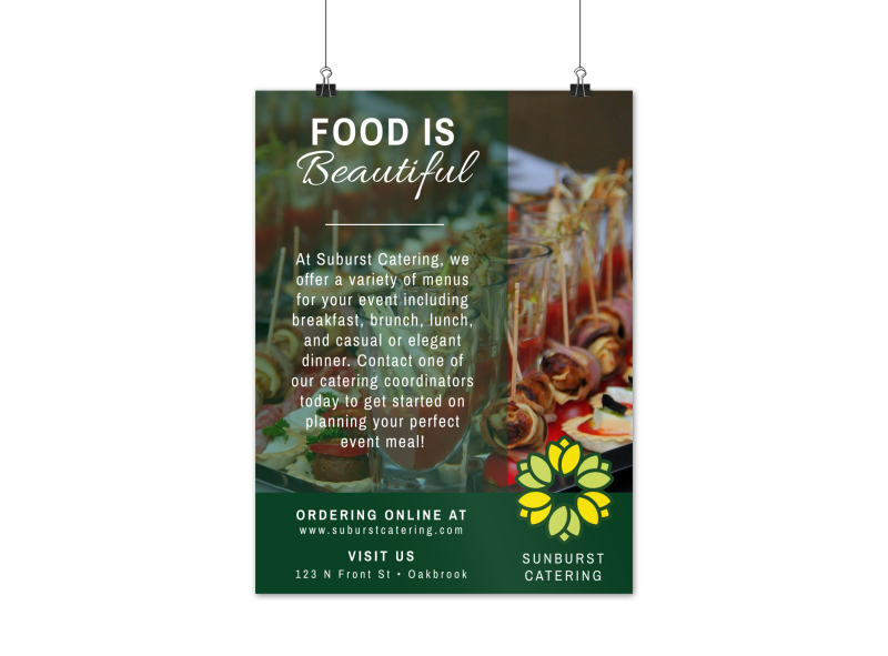Sunburst Catering Poster Template Preview 1