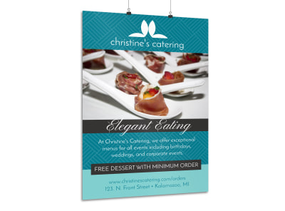 Elegant Catering Poster Template preview
