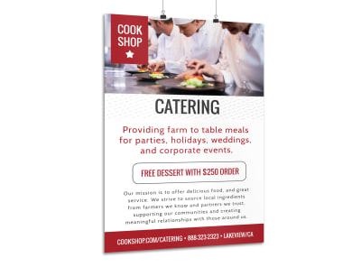 Professional Catering Poster Template preview