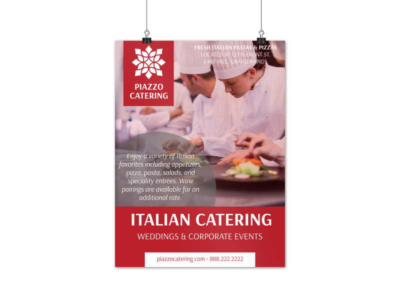 Italian Catering Poster Template