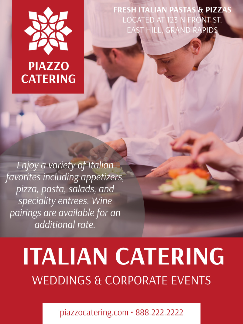 Italian Catering Poster Template Preview 2