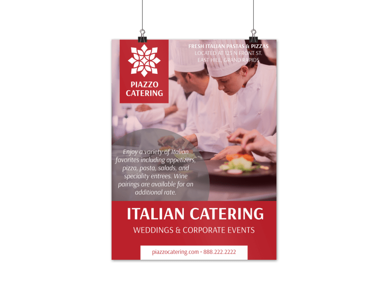 Italian Catering Poster Template Preview 1