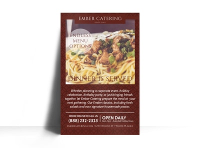 Ember Catering Poster Template preview