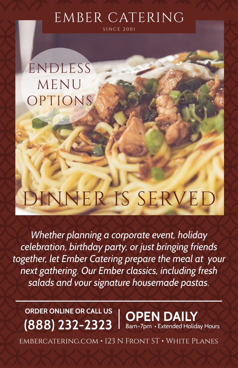 Ember Catering Poster Template Preview 2