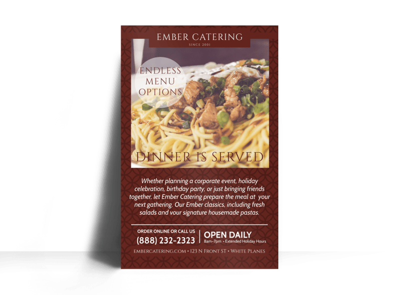 Ember Catering Poster Template Preview 1