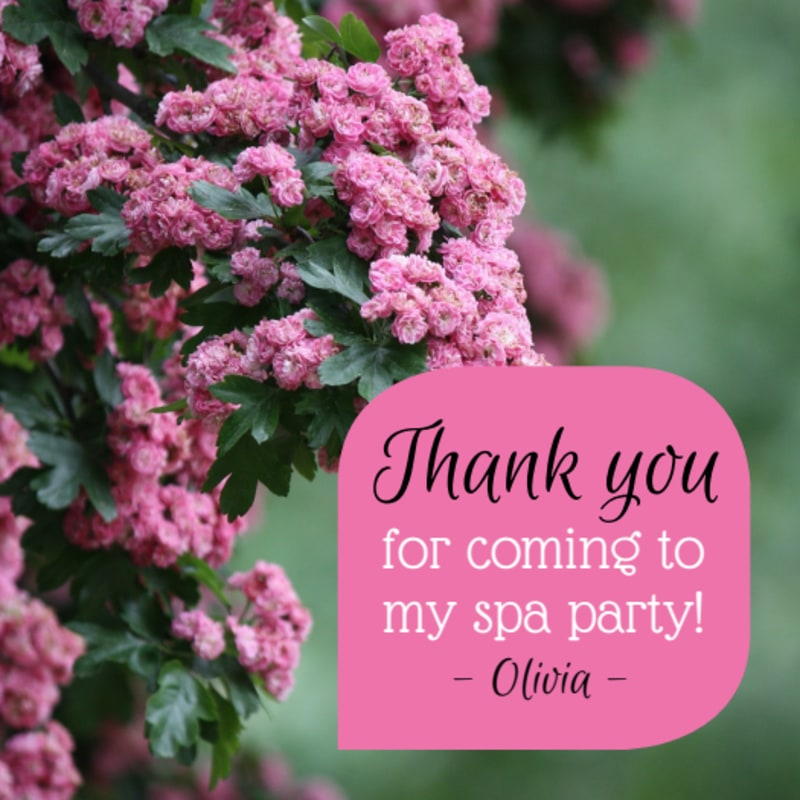 Spa Thank You Sticker Template Preview 2