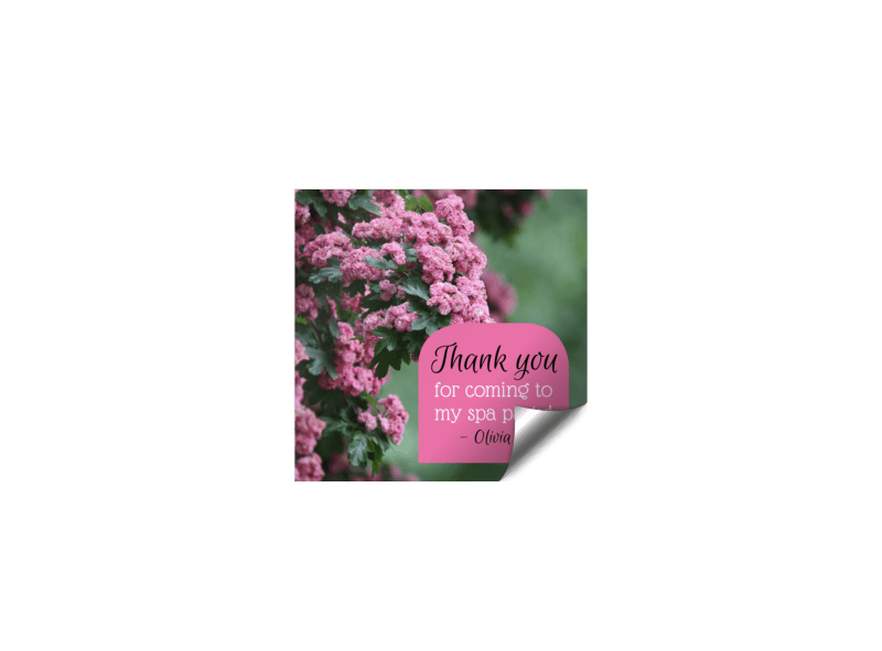 Spa Thank You Sticker Template Preview 1