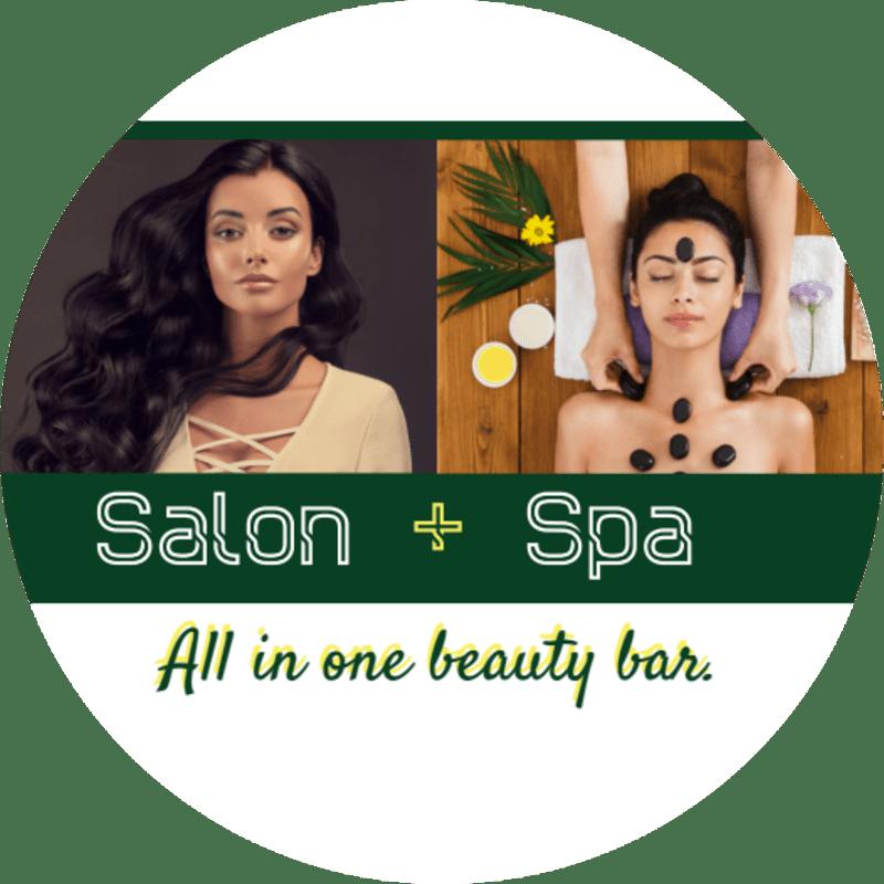 Salon & Spa Sticker Template Preview 2