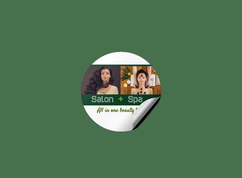 Salon & Spa Sticker Template Preview 1