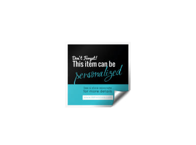 Personalize Product Sticker Template