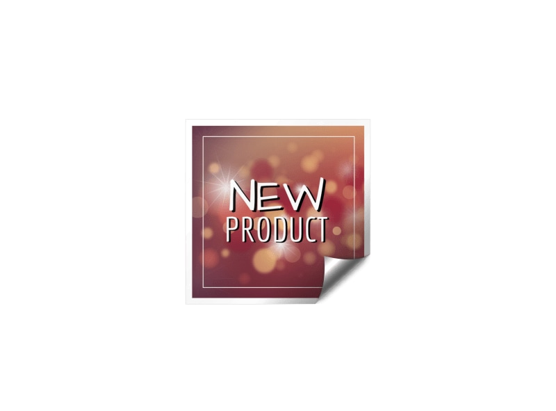 Simple New Product Sticker Template