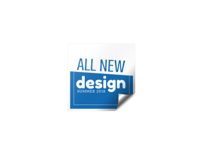 New Design Sticker Template