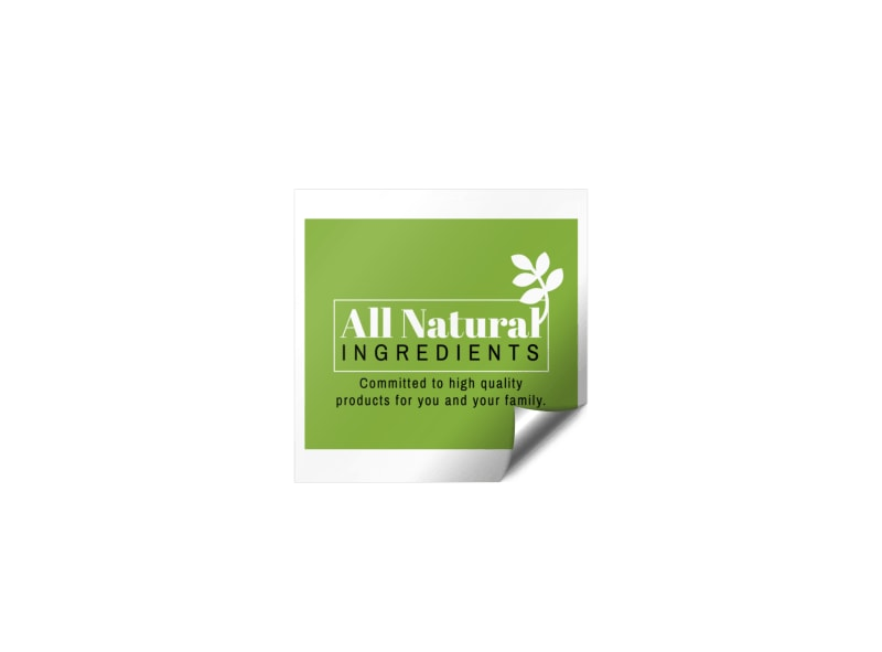 Natural Ingredient Sticker Template