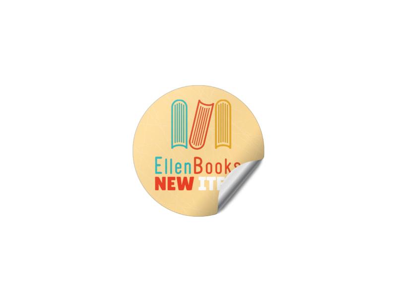 New Item Book Sticker Template