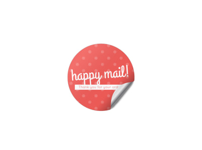 Happy Mail Sticker Template
