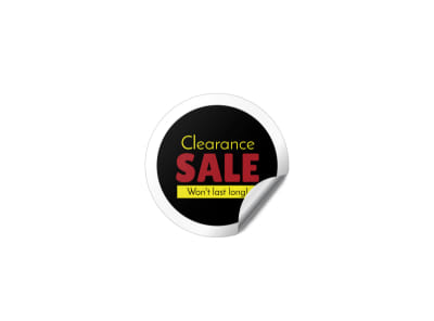 Clearance Sale Sticker Template