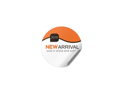 New Arrival Sticker Template
