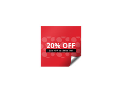 Sale Promo Sticker Template