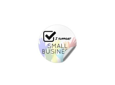 Support Small Business Sticker Template