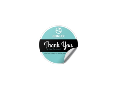 Thank You Sticker Template preview