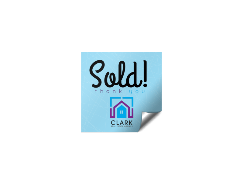 Real Estate Sold Sticker Template Preview 1