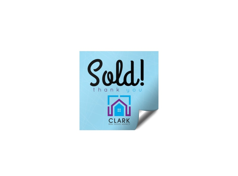 Real Estate Sold Sticker Template