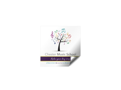 Music School Sticker Template