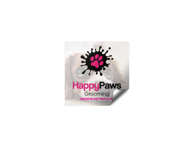 Dog Grooming Sticker Template preview