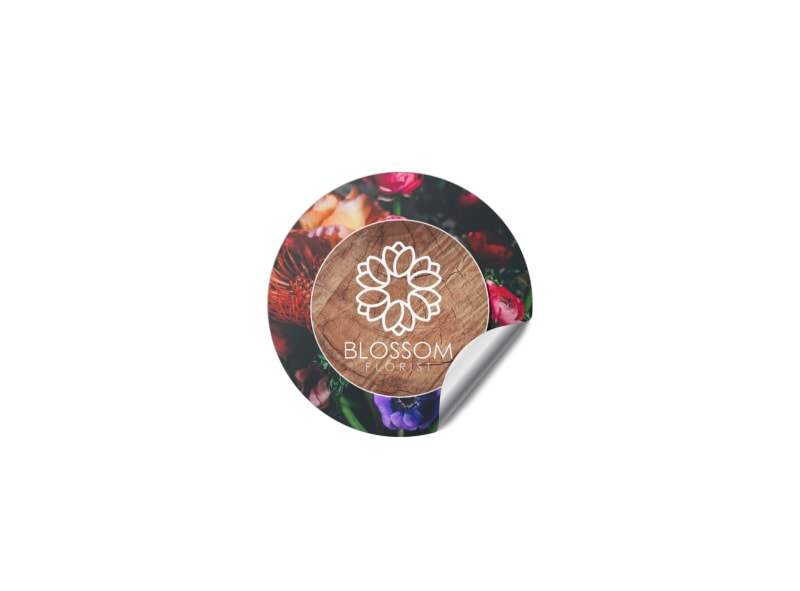 Blossom Florist Sticker Template