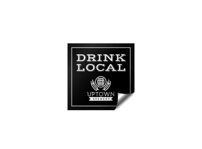 Drink Local Sticker Template