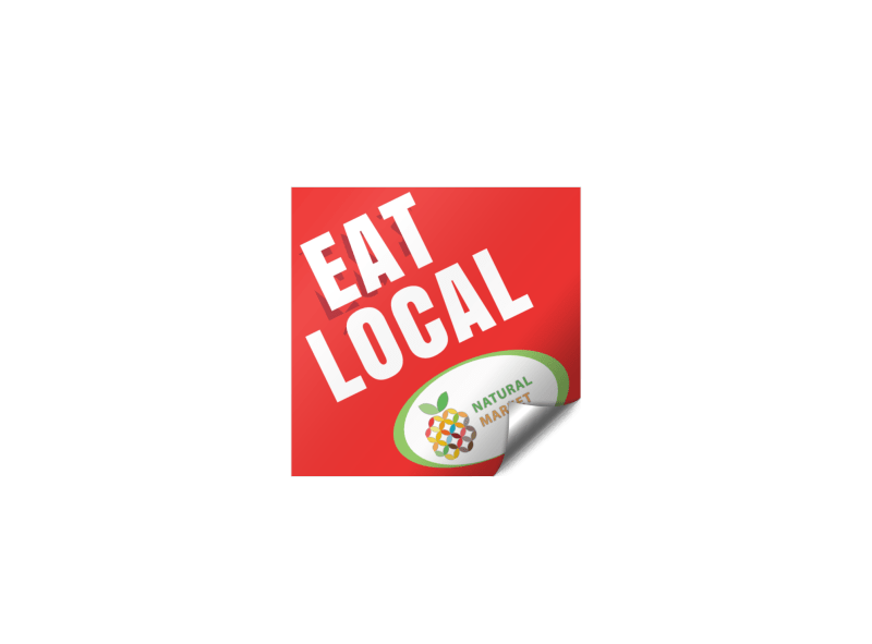 Eat Local Sticker Template Preview 1