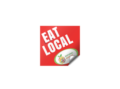 Eat Local Sticker Template preview