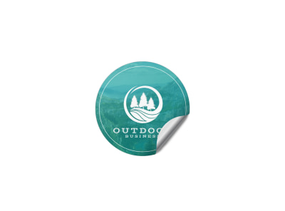 Outdoor Business Sticker Template preview