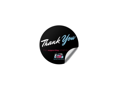 Car Wash Thank You Sticker Template preview