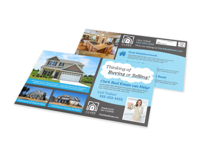 Thinking Of Buying Real Estate EDDM Postcard Template preview
