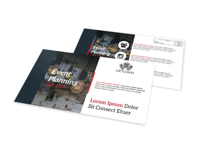 Event Planning EDDM Postcard Template preview