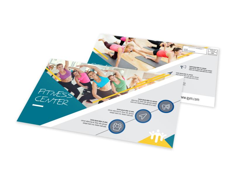 Great Fitness Center EDDM Postcard Template