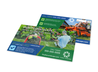 Landscaping Outreach EDDM Postcard Template preview