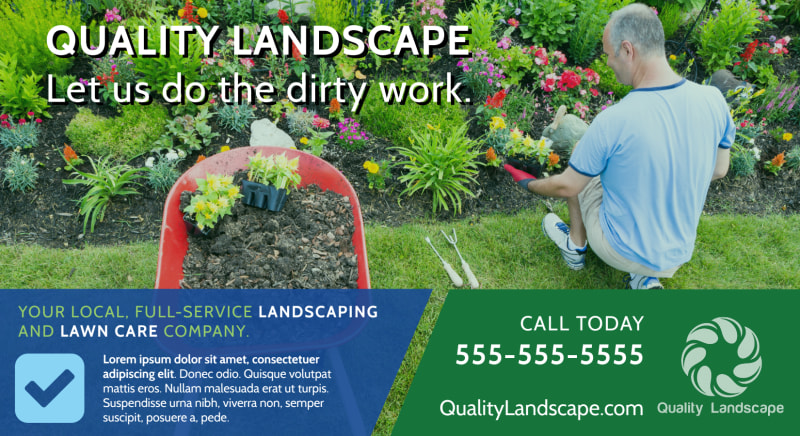 Landscaping Outreach EDDM Postcard Template Preview 2