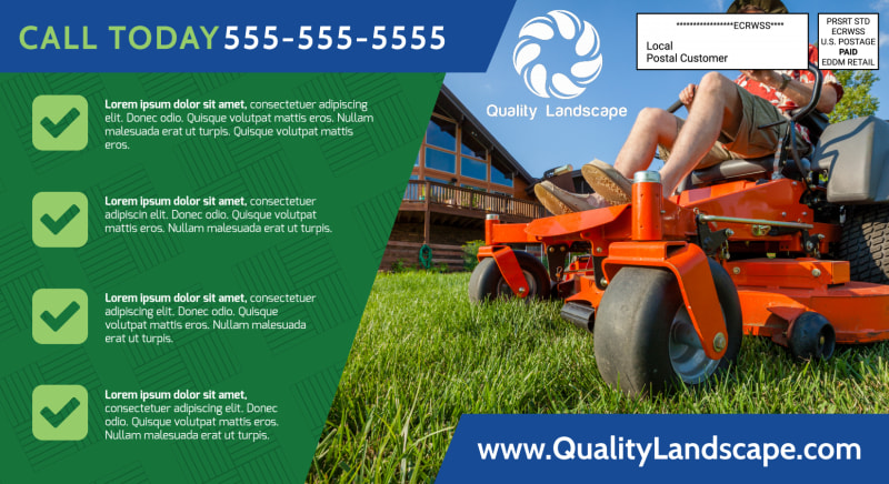 Landscaping Outreach EDDM Postcard Template Preview 3