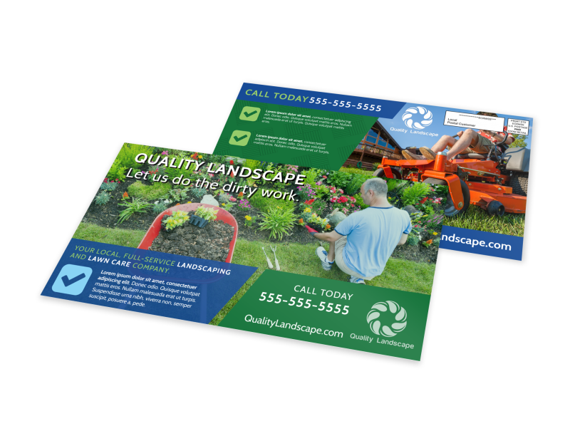 Landscaping Outreach EDDM Postcard Template Preview 1