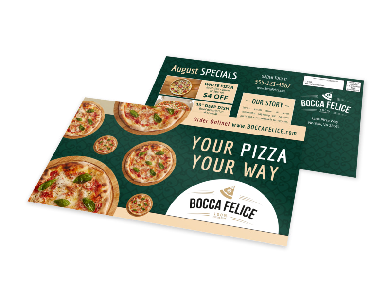 Classic Pizza Restaurant EDDM Postcard Template