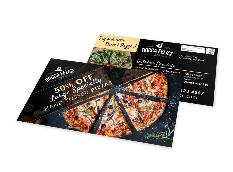 Italian Pizza Restaurant EDDM Postcard Template