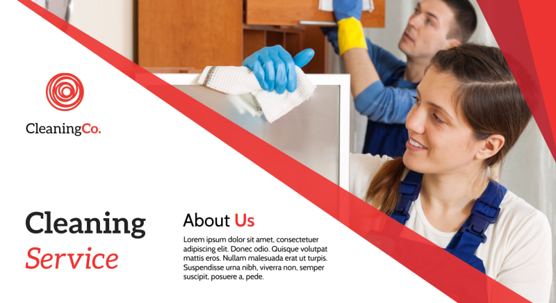 Red Cleaning Service EDDM Postcard Template Preview 2