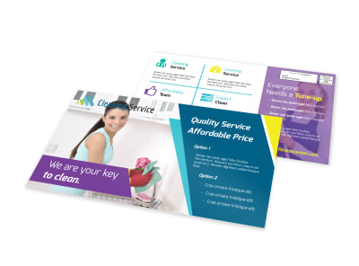Quality Cleaning EDDM Postcard Template preview